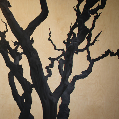 Tree, 2011, oil on plywood, 110 x 110
