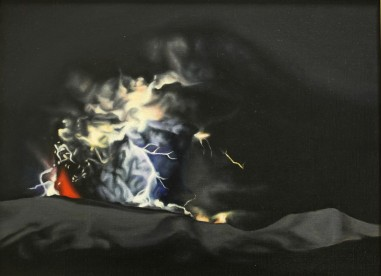 Dark light 1, 40x30, oil on canvas, CHT, 2011