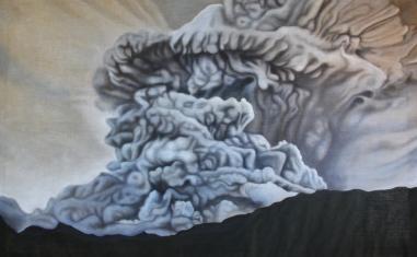 2011, Explosion, 200 x 125 cm, oil on canvas with rabbit glue
