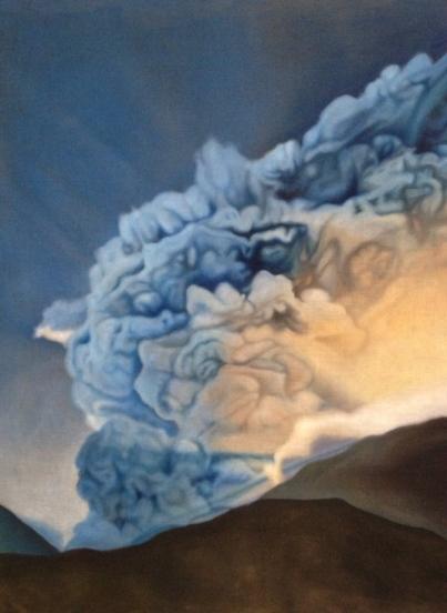 Eruption, 2014, oil on canvas with rabbit glue, 95 x 120