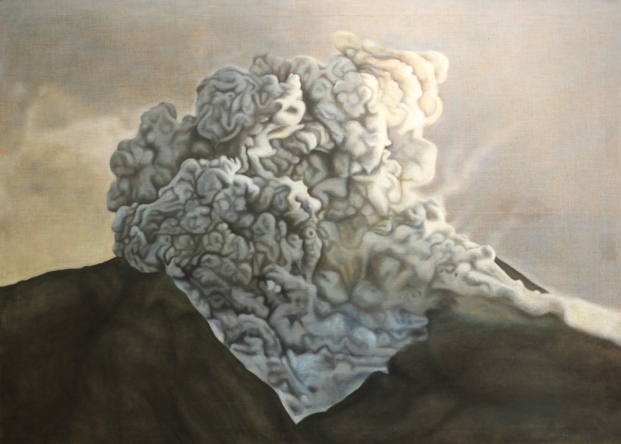 Overflow, 2011, oil on canvas with rabbit glue, 180 x 130.