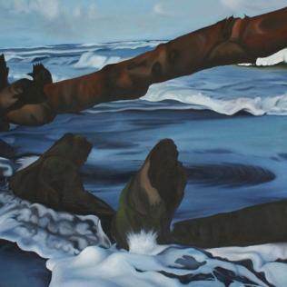 Playa Negra, 2008, oil on canvas, 90 x 200