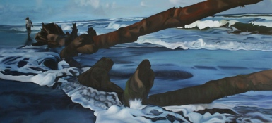 Playa Negra, 2008, oil on canvas, 90 x 200