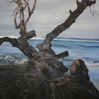 Wet Wood 3, 2011, oil on canvas, 120 x 100