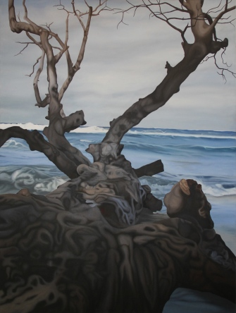 2011, Wet Wood 3, 120 x 100 cm, oil on canvas