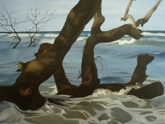 2008, Wet Wood 1, 120x100, oil on canvas