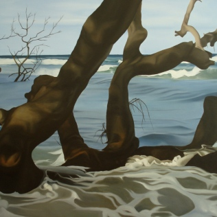 Wet Wood 1, 2008, oil on canvas, 120 x 100