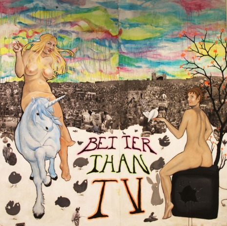 2010, Woodstock, 200 x 200 cm, acrylic and collage on canvas