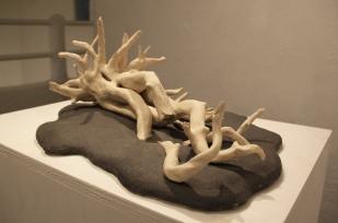 2013, White Wood, 40 x 55 x 25, ceramic