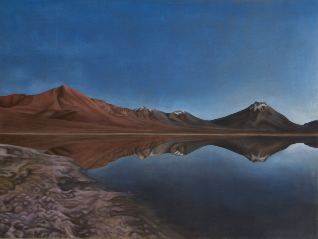 Lavaland, 2018, oil on canvas with rabbit glue