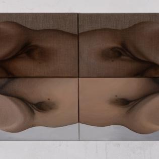 Armpits, 2018, oil on canvas with rabbit glue, 80 x 40 cm