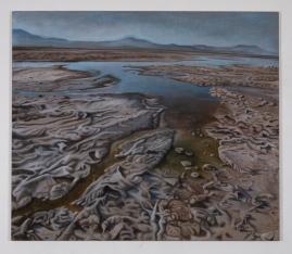 Extremophelia, 130 x 120, oil on canvas with rabbit glue, 2019
